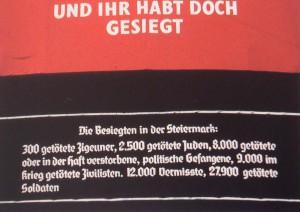 """Hans Haacke, """"UND IHR HABT DOCH GESIEGT"""", Graz 1988"""