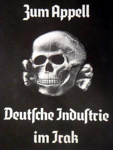Hans Haacke, Die Fahne hoch, München Propyläen, 1991