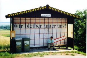 Otto Mittmannsgruber / Martin Strauß, Fremd, Wir bleiben unter uns. Plakatwände Niederösterreich 1997