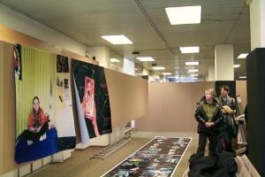 Ausstellungsaufbau, Graz, Eisernes Haus 1999