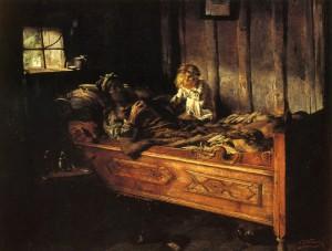 Karl Wibmer, Erlöst (Totenstube), 1888