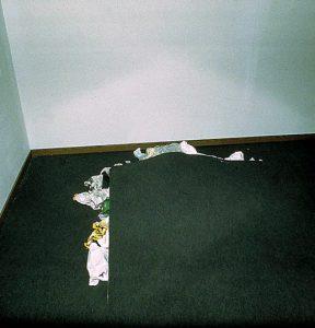 Marcel Biefer / Beat Zgraggen, Dreck unter dem Teppich - Vertikale Evakuierung. KUNST HEIMAT KUNST. Schlußpräsentation, Graz, Künstlerhaus 1994