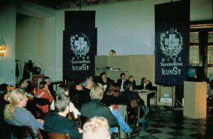 IRWIN, Transzentrale. KUNST HEIMAT KUNST. Zwischenbericht, Graz, Palais Attems 1992
