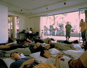 Mio Shirai + Matta Wagnest, Wachted while sleeping. KUNST HEIMAT KUNST, Tokio, Hillside Gallery 1994