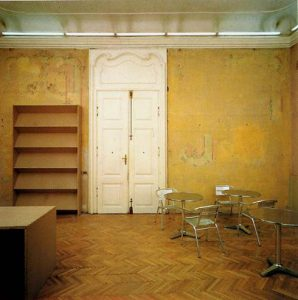 Heimo Zobernig, Erster bis einundzwanzigster März 1993, Cafeteria, Graz Neue Galerie 1993