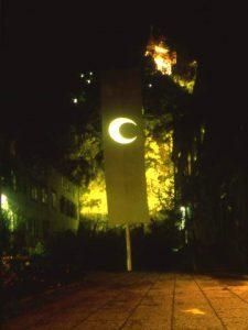 TEER, Weiße Fahne, Graz Schloßbergplatz 1987