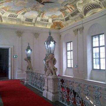 Treppenhaus , Palais Herberstein, ehemals Neue Galerie, Graz 2012