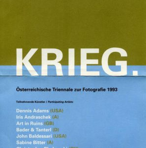 KRIEG. Folder, Graz 1993