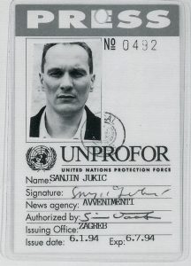 Sanjin Jukić, Presscard, 1994. Ausstellungskatalog. Graz, Neue Galerie 1994