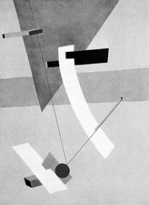 El Lissitzky, Proun 12E, 1923, Harvard University, Busch-Reisinger Museum