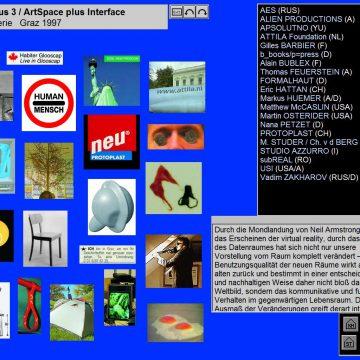 2003 minus 3 / ArtSpace plus Interface, Startseite der CD-Rom Neue Galerie, Graz 1997