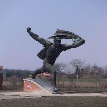 Eine Statue im Szoborpark, Budapest