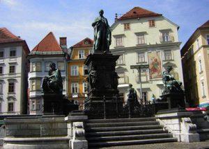 Franz Pönninger, Erzherzog-Johann-Brunnen, Graz, Hauptplatz 1874/78