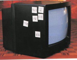 "Joachim Baur, ""Punzen"" in einer TV-Übertragung, Liveschaltung Graz-Gent, Graz grüßt Villa De Bondt, Gent 1998"
