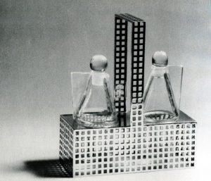 Kolo Moser, Essig- und Ölbehälter, Wiener Werkstätte, um 1909, Privatbesitz