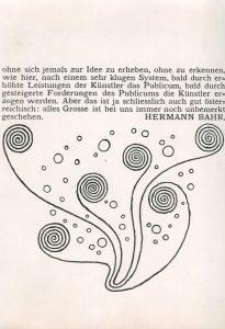Kolo Moser, Des Narren Regenlied, Ver Sacrum, Bd. IV, 1901