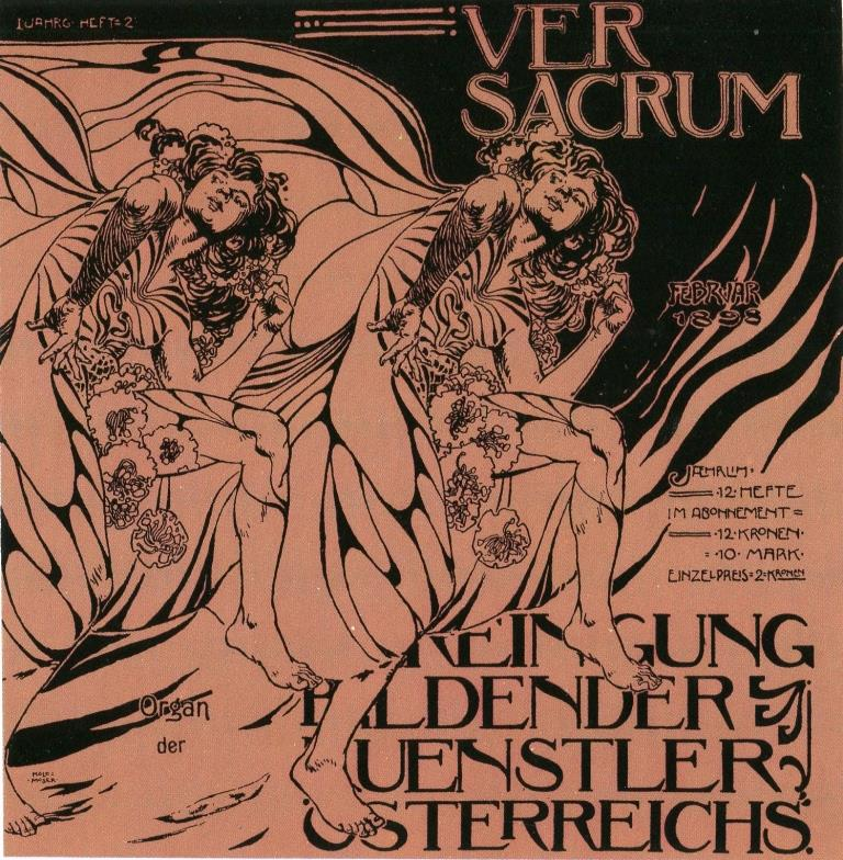 Kolo Moser, Umschlag für Heft 2, Ver Sacrum, Bd. I, 1898