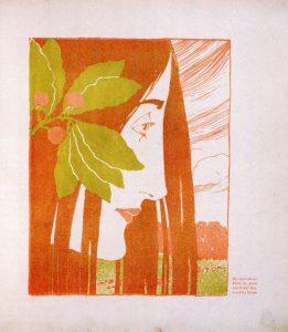 Kolo Moser, Ein dekorativer Fleck in Roth und Grün, Ver Sacrum, Bd. I, 1898
