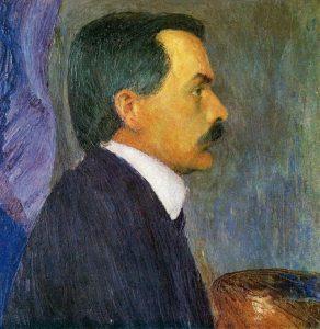 Kolo Moser, Selbstporträt mit Palette, um 1900, Historisches Museum der Stadt Wien