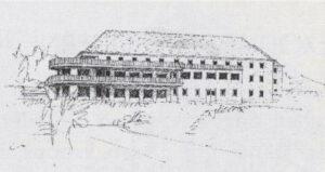 Rudolf Hofer, Entwurf für ein Hotel auf der Pack, 1936