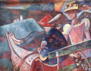 Alfred Wickenburg, Fahrt aufs Land, 1924