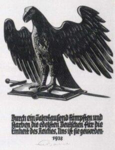 Ernst Dombrowski, Adler und Schwert, um 1940